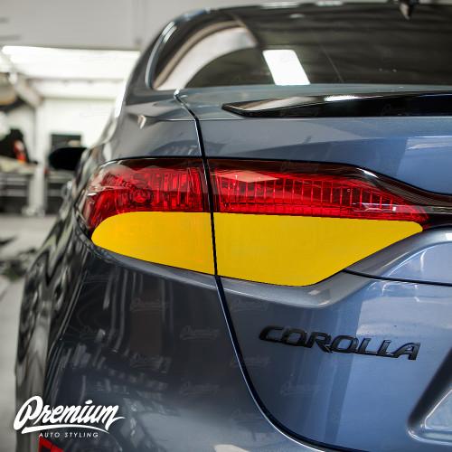 Tail Light Red Out Turn Signal + Smoked Reverse Light Overlay Combo - Tint | 2020 Toyota Corolla Sedan