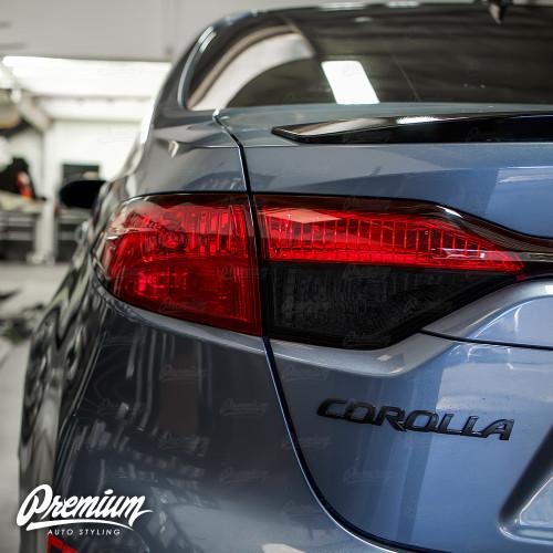 Tail Light Red Out Turn Signal + Smoked Reverse Light Overlay Combo - Tint | 2020-2021 Toyota Corolla Sedan