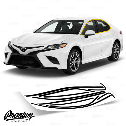 Window Trim Chrome Delete Vinyl Overlay Kit - Gloss Black | 2018-2019 Toyota Camry