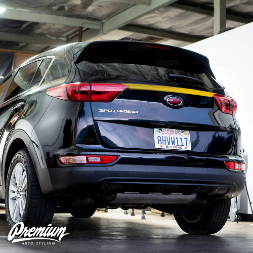 Tail Light Center Bar Black Out Overlay - Gloss Black | 2017-2019 Kia Sportage