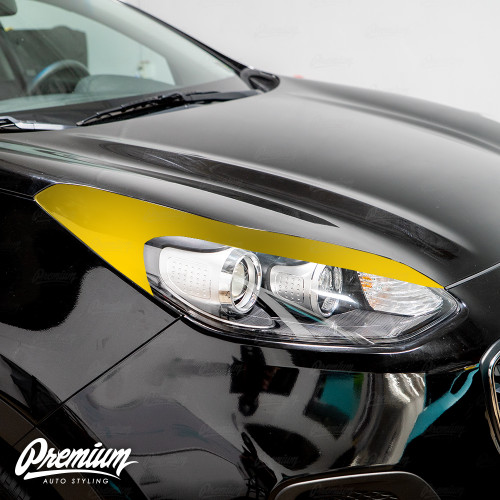 Headlight Amber Delete with Eyelid Vinyl Overlay - Gloss Black | 2017-2019 Kia Sportage