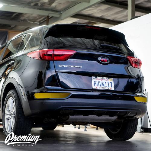 Smoked Rear Bumper Reflector Overlay - Smoke Tint | 2017-2019 Kia Sportage