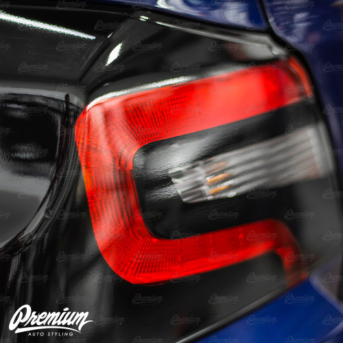 Tail Light Black Out With Custom Insert Cut Out Overlay - Gloss Black | 2015-2020 Subaru WRX/STI