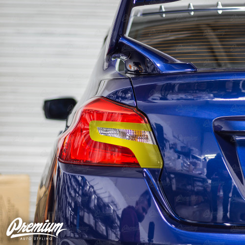 Tail Light Insert With Custom Cut-Out Overlay - Gloss Black | 2015-2020 Subaru WRX/STI
