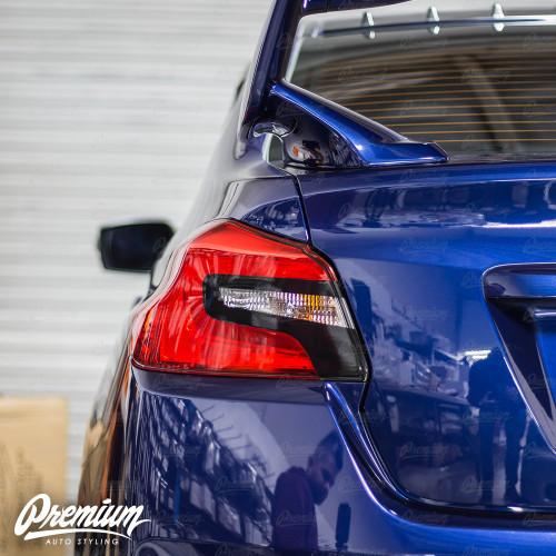 Tail Light Insert With Custom Cut-Out Overlay - Gloss Black   2015-2020 Subaru WRX/STI