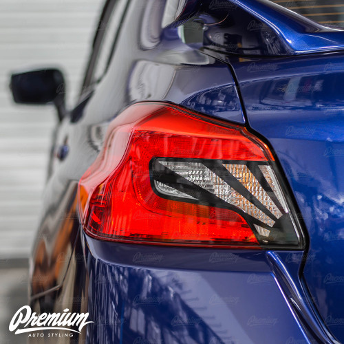 Tail Light Insert With Custom Rising Sun Cut-Out Overlay - Gloss Black | 2015-2020 Subaru WRX/STI