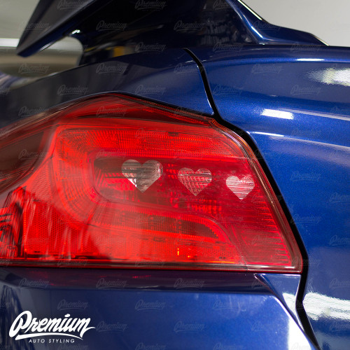 Tail Light Hearthrob V2 Insert With Custom Heart Cut-Out Overlay - Red Tint | 2015-2020 Subaru WRX/STI