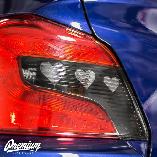 Tail Light Hearthrob V2 Insert With Custom Heart Cut-Out Overlay - Smoke Tint   2015-2020 Subaru WRX/STI