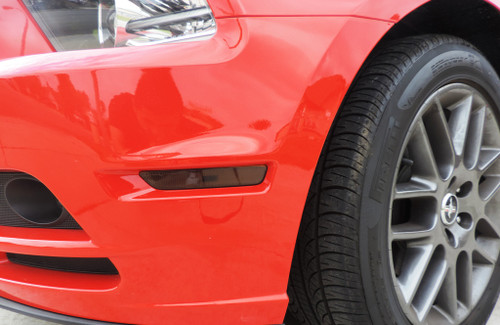 Front Side Reflector Overlay - Smoke Tint   2010-2014 Ford Mustang