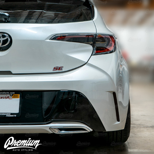 Smoked Rear Bumper Reflector Overlays - Smoke Tint | 2019-2020 Toyota Corolla Hatchback