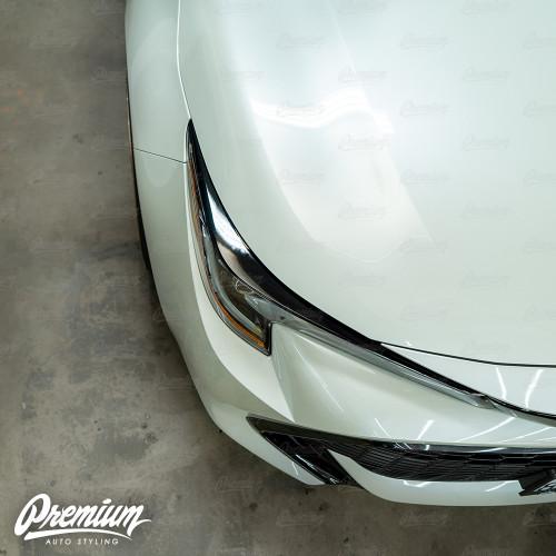 Headlight Vinyl Accent Eyelid Overlay - Gloss Black | 2019-2021 Toyota Corolla Hatchback