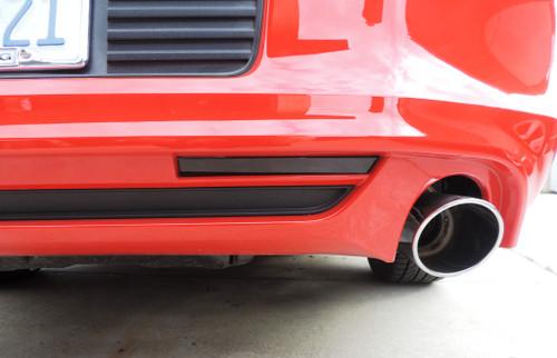 Rear Bumper Reflector Overlay - Smoke Tint | 2013-2014 Ford Mustang