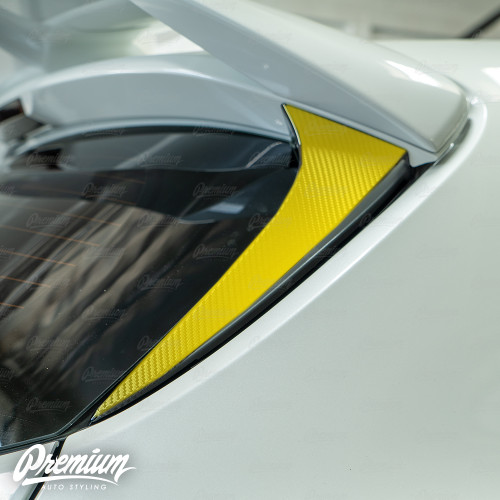 Carbon Fiber - Hatch Pillar Accent Overlay | 2019-2020 Toyota Corolla Hatchback