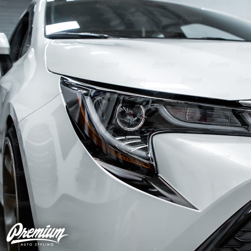 Front Bumper Accent - Under Eyelid Overlay - Gloss Black | 2019-2021Toyota Corolla Hatchback