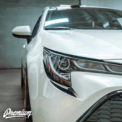Front Bumper Accent - Under Eyelid Overlay - Gloss Black | 2019-2020 Toyota Corolla Hatchback