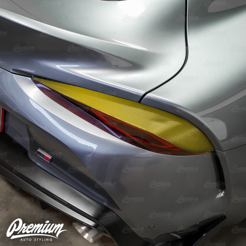 Tail Light Deck Vinyl Overlay - Carbon Fiber | 2020 Toyota Supra
