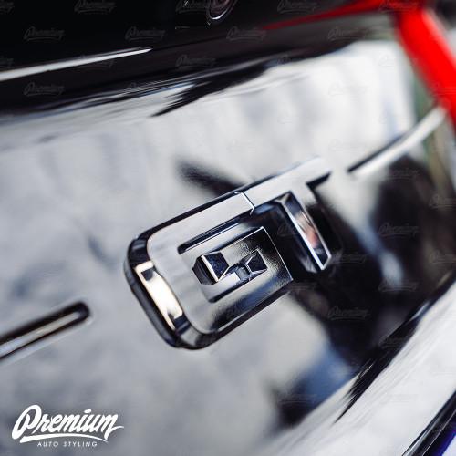 Gloss Black - Rear GT Badge Emblem Overlay | 2018-2019 Ford Mustang GT