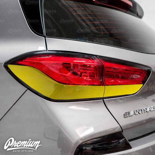 Tail Light Smoke Tint Overlay | 2020 Hyundai Elantra GT N-Line Hatchback