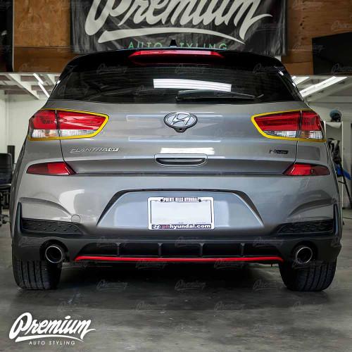 Tail Light Accent Trim Overlay - Gloss Black | 2020 Hyundai Elantra GT N-Line Hatchback