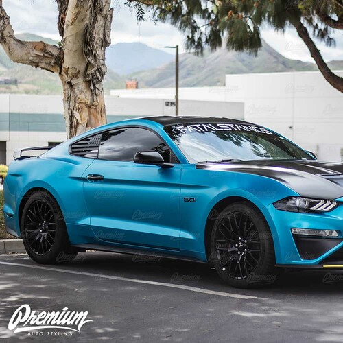 Roof Wrap - Gloss Black / Satin Black / Carbon Fiber | 2018-2019 Ford Mustang GT