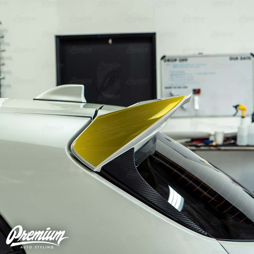 Wing End Plate Black Out Accent - Gloss Black | 2019-2020 Toyota Corolla Hatchback