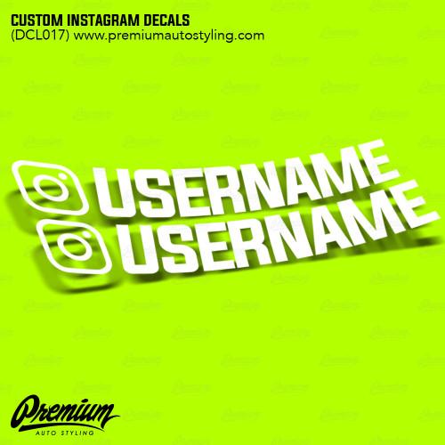 Custom Instagram Decal Set