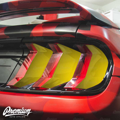Tail Light Vinyl  Accent Overlay - Gloss Black | 2018-2019 Ford Mustang GT