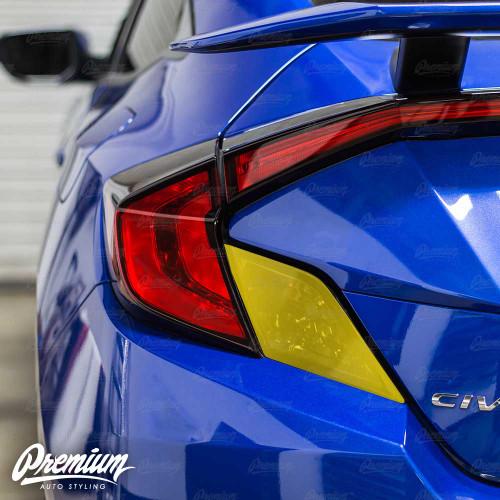 Tail Light Insert Overlay - Smoke Tint   2016-2018 Honda Civic Coupe