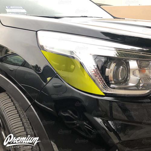 Headlight Amber Delete Vinyl Overlay - Gloss Black | 2019-2020 Subaru Forester Sport