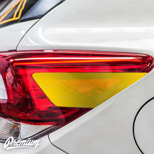 Tail Light Mountain Range Reflector Accent Out Vinyl Overlay - Gloss Black | 2018-2020 Subaru Crosstrek