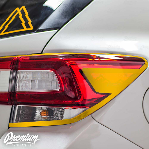 Tail Light Trim Accent Overlay with Mountain Range Cut Out - Gloss Black | 2018-2020 Subaru Crosstrek