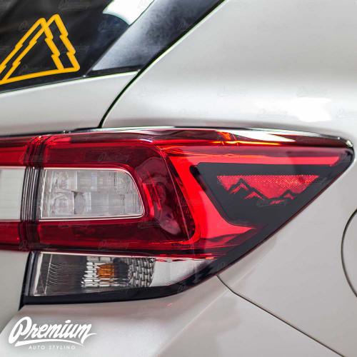 Tail Light Trim Accent Overlay with Mountain Range Cut Out - Gloss Black | 2018-2020 Subaru Crosstrek