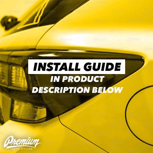 Tail Light Deck Vinyl Overlay with Reflector Cut Out - Gloss Black | 2018-2020 Subaru Crosstrek