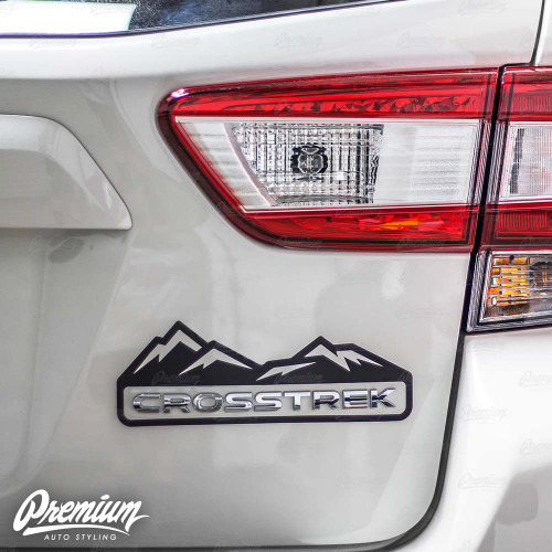 Crosstrek Mountain Range Decal - Gloss Black | 2018-2020 Subaru Crosstrek