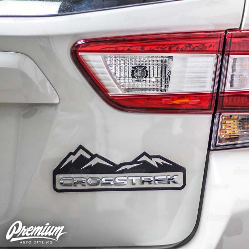 Crosstrek Mountain Range Decal - Gloss Black | 2018-2020 Subaru Crosstrek