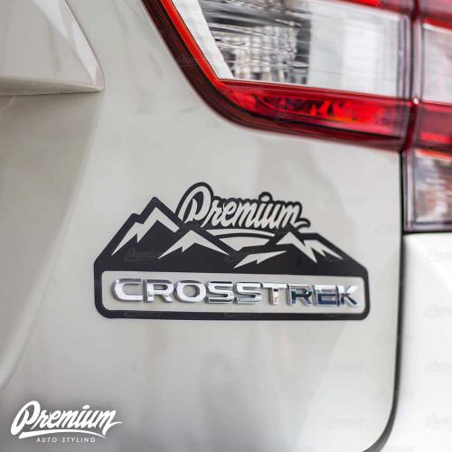Crosstrek Premium Mountain Range Decal - Gloss Black | 2018-2020 Subaru Crosstrek