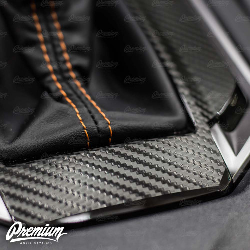 Carbon Fiber Shifter Trim Vinyl Overlay - (Limited/Sport CVT ONLY)   2018-2021 Subaru Crosstrek