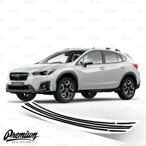 Window Trim Chrome Delete Vinyl Overlay - Gloss Black | 2018-2021 Subaru Crosstrek
