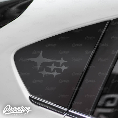 Subaru Stars Logo Rally Flag Rear Quarter Window Decal | 2018-2021 Subaru Crosstrek