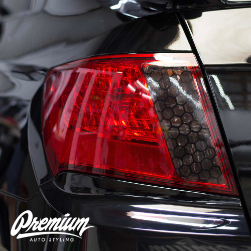 Honeycomb Tail Light Overlay Smoke Tint Insert | 2008-2014 WRX & STI / 2008-2011 Impreza Sedan