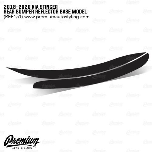 Rear Bumper Reflector Overlay - Smoke Tint | 2018-2020 Kia Stinger