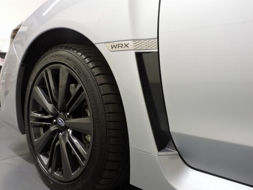 Gloss Black / Satin Black / Carbon Fiber - Fender Accent Vinyl Overlay | 2015-2021 Subaru WRX / STI
