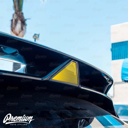 Third Brake Light Overlay - Veloster N Spoiler - Smoke Tint | 2019-2020 Hyundai Veloster N