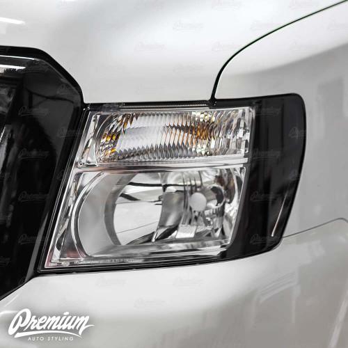 Headlight Amber Delete Vinyl Overlay - Dark Smoke Tint | 2012-2020 Nissan NV1500-3500
