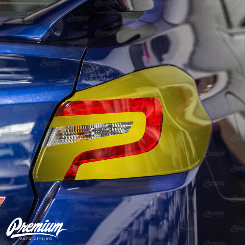 Smoked Tail Light Deck With Custom Gloss Black Cut Out Insert Overlay | 2015-2020 Subaru WRX/STI