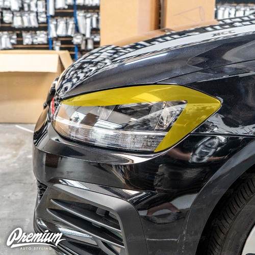 Headlight Amber Delete with Eyelid Overlay - Gloss Black | 2018-2020 Volkswagen GTI