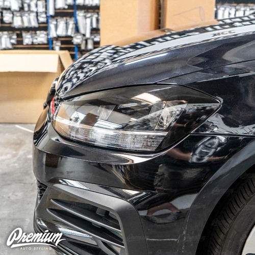 Headlight Amber Delete with Eyelid Overlay - Gloss Black | 2018-2020 Volkswagen GTI (Halogen Only)