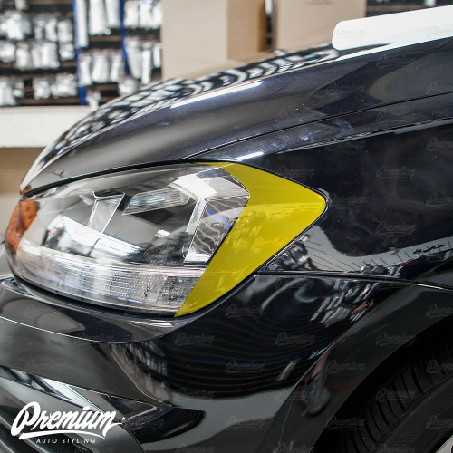 Headlight Amber Delete - Gloss Black | 2018-2020 Volkswagen Golf | GTI (Halogen Only)