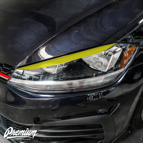 Headlight Sleek Eyelid Overlay - Gloss Black | 2018-2020 Volkswagen GTI (Halogen Only)