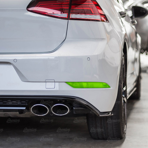 Rear Bumper Reflector Black Out Overlay - Gloss Black | 2018-2020 VW GTI & 2018-2019 VW GOLF R
